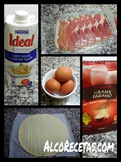 Quiche de jamón y quesos (ingredientes)