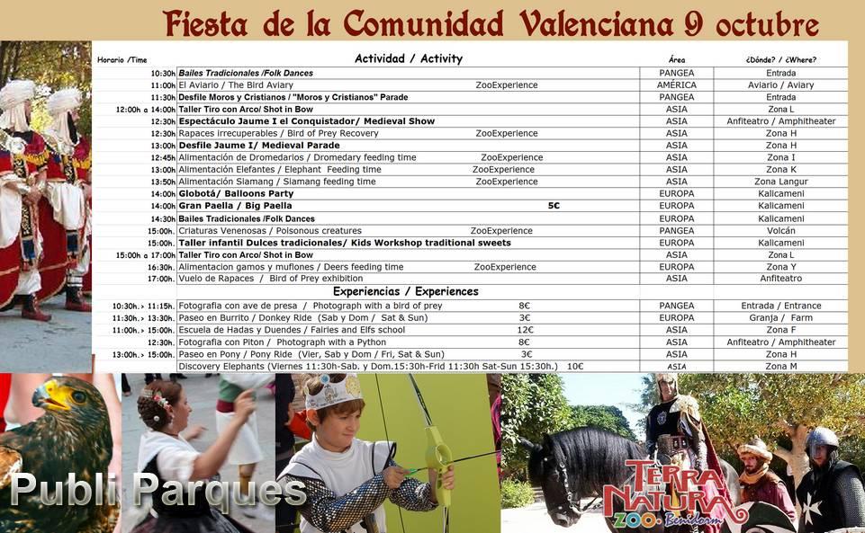 Calendario fiesta comunidad valenciana terra natura