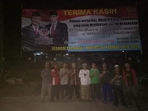 Dapat Perlawanan Dari Relawan dan FPI, Baliho Kemenangan Prabowo-Sandi di Majalaya Urung Dicopot