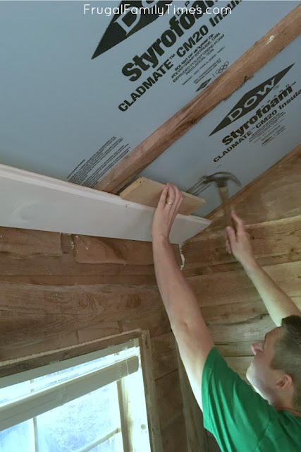 shiplap ceiling how to start