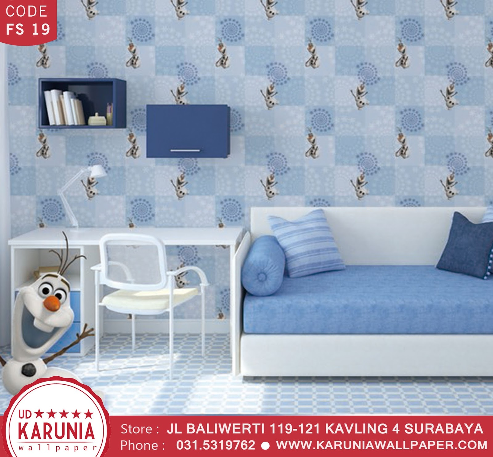 jual wallpaper frozen karuniawallpaper surabaya