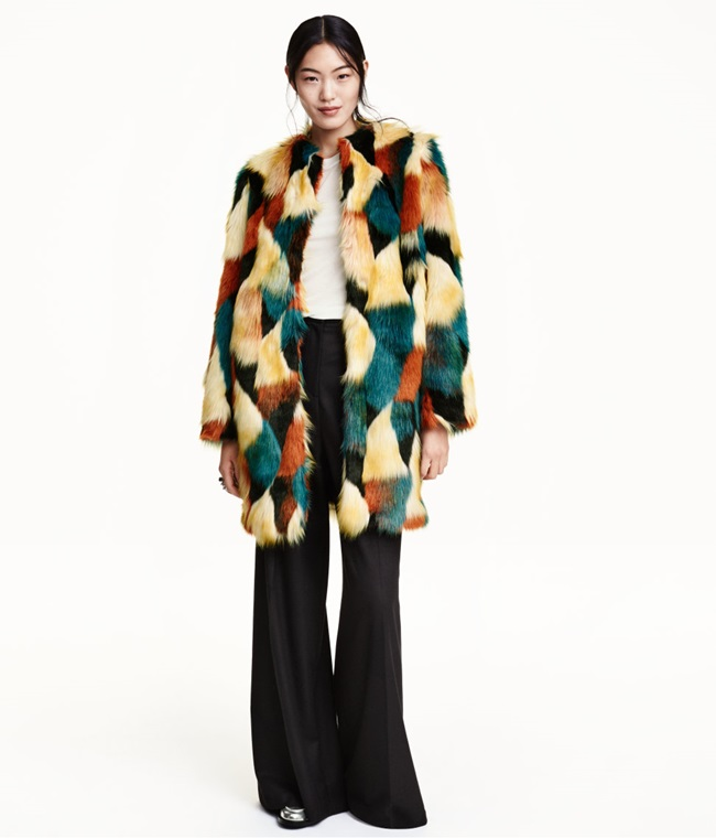 H&M 2015 Winter Colorful Faux Fur Coat