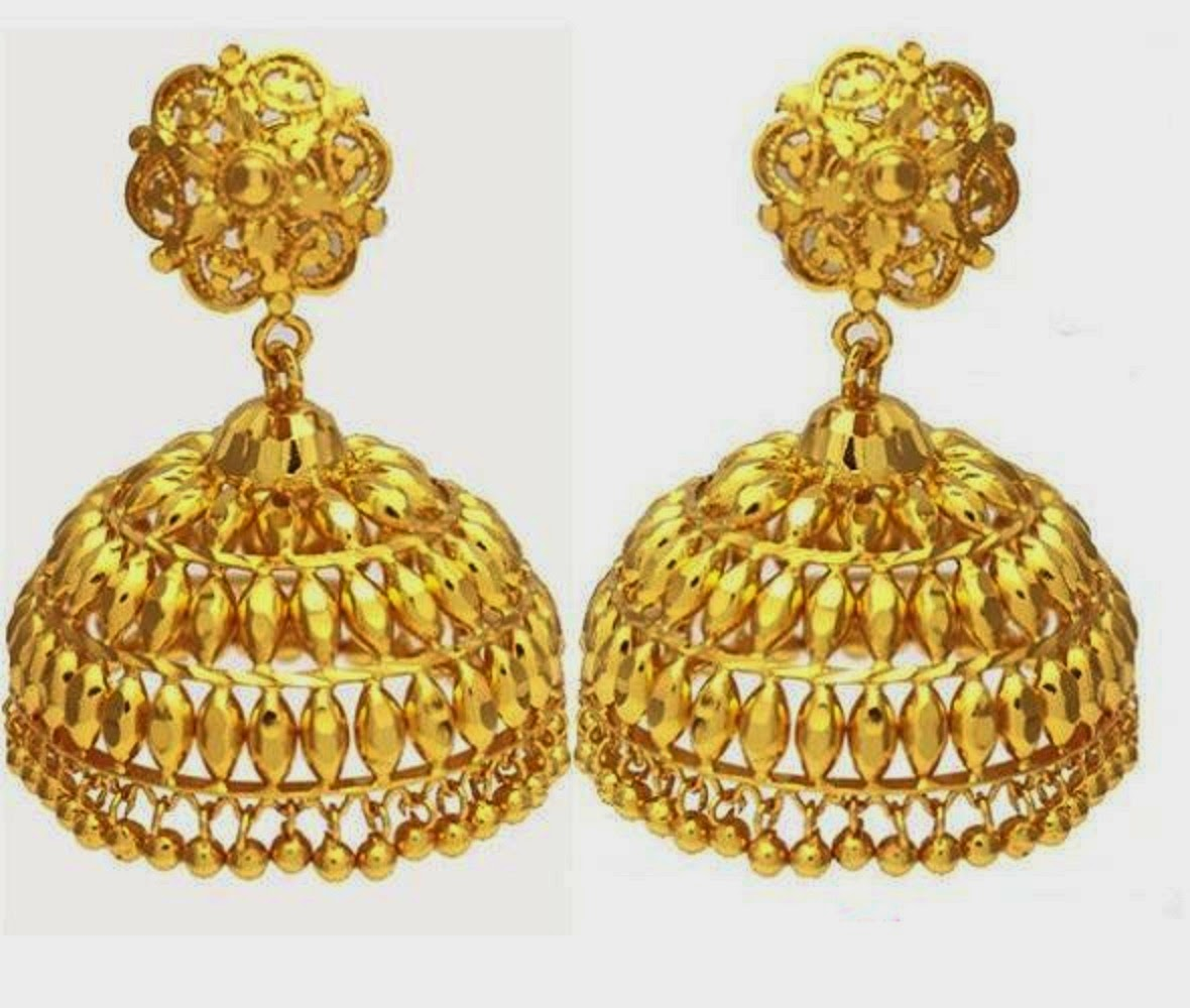 Latest Gold Jhumka Earring Designs Hd Wallpaper All 4u Wallpaper