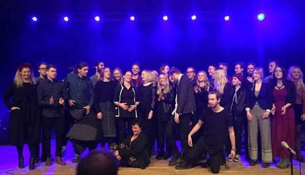 """Diamond Baracelet, wedding Dress, maternty dress, diamond rings and earrings, meternty wedding dress, Princess Sofia of Sweden visited a concert called """"Music and People"""" held by students and young refugees in Örnsköldsvik"""