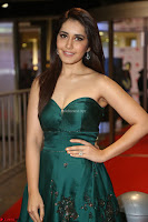 Raashi Khanna in Dark Green Sleeveless Strapless Deep neck Gown at 64th Jio Filmfare Awards South ~  Exclusive 133.JPG