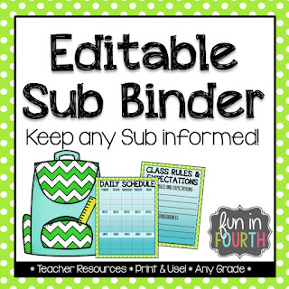 An easy, customizable way to keep your subtitute teacher informed.