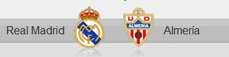 Real Madrid and Almeria shields