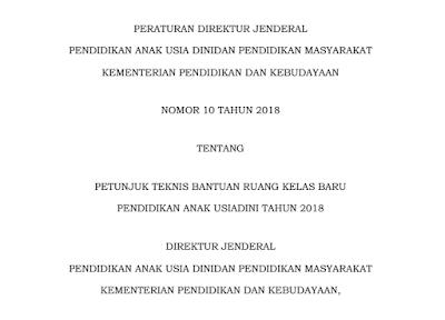 Download Petunjuk Teknis RKB PAUD Tahun 2018