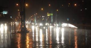 chuva a noite