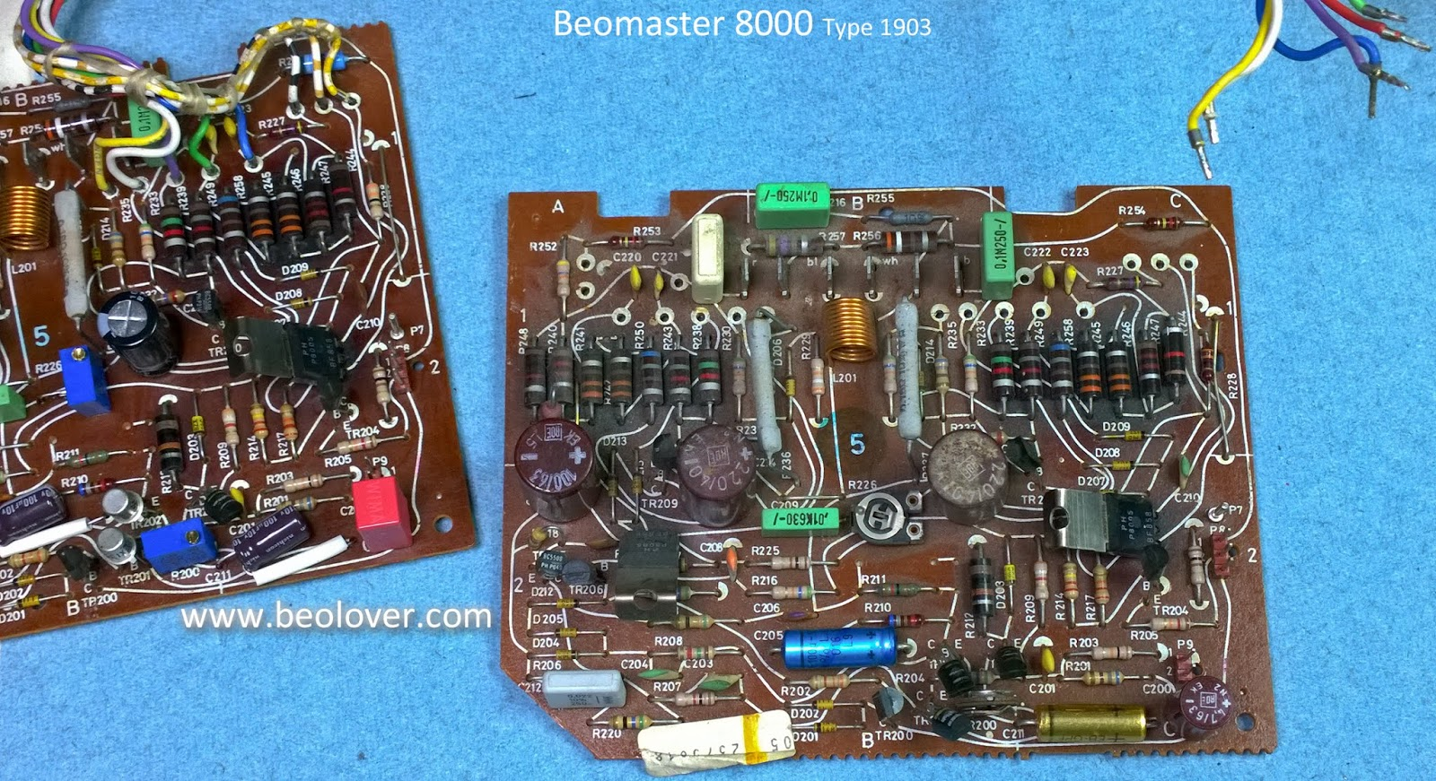 Beolover August 2018 The Resistor Is On Left Side Of Board Close To Heat Sink Like Right Channel It Had Quite A Bit Grime And Dust Heatsink
