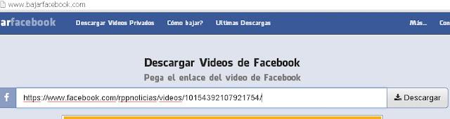 Otra forma de descargar vídeos de Facebook gratis sin programas