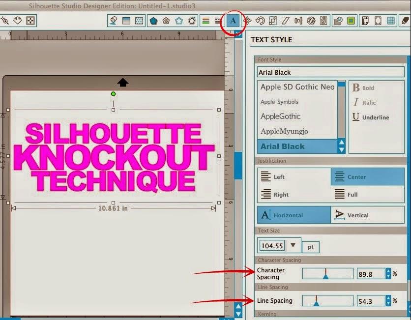 Silhouette tutorial, knockout technique, knockout, Silhouette Studio, text style