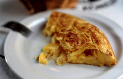 Tortilla de patata jugosa