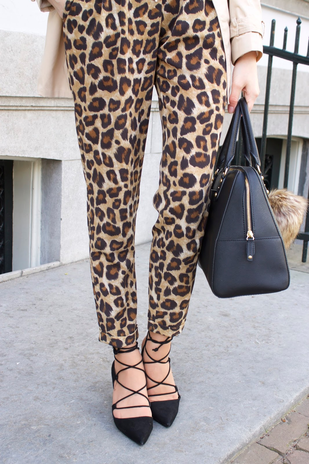 Faux fur and leopard