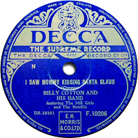 I saw Mommy Kissing Santa Claus record