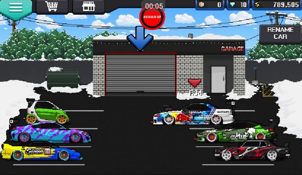 Pixel Car Racer iPhone iPad Android juegos de autos gratis