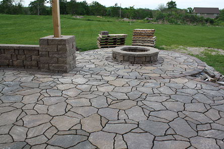 How To Build A Stone Patio With A Fire Pit Great Find