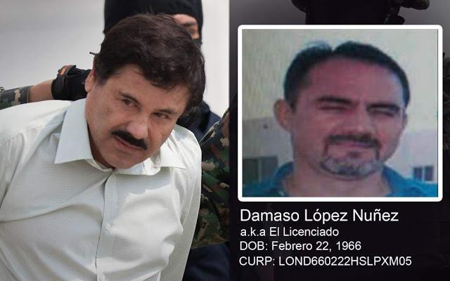 """Dámaso López """"El Licenciado"""", Comenzo a cantar en el juicio de su compadre """"El Chapo Guzmán"""""""
