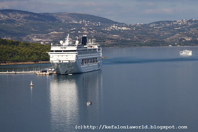 Cruise ship at Argostoli, Kefalonia