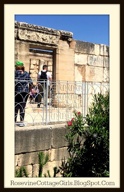 Site of the synagogue in Capharnaum Israel where Jesus taught