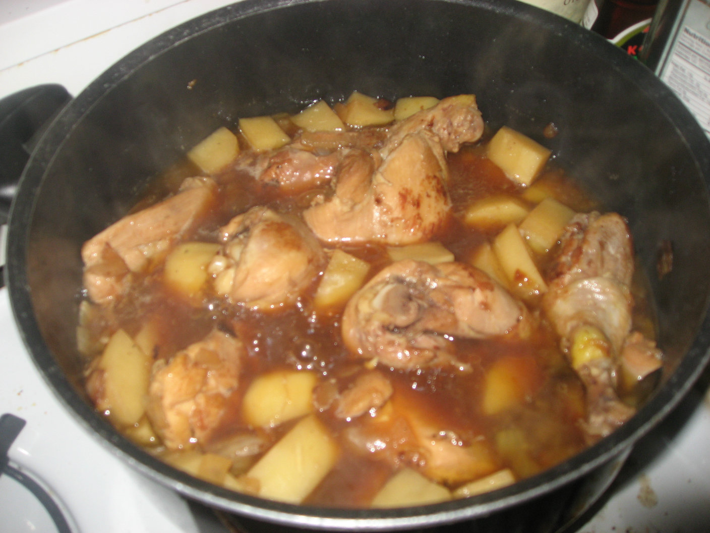 Thighs Potatoes Chicken And