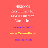 HESCOM Recruitment for 1451 Jr Lineman Vacancies