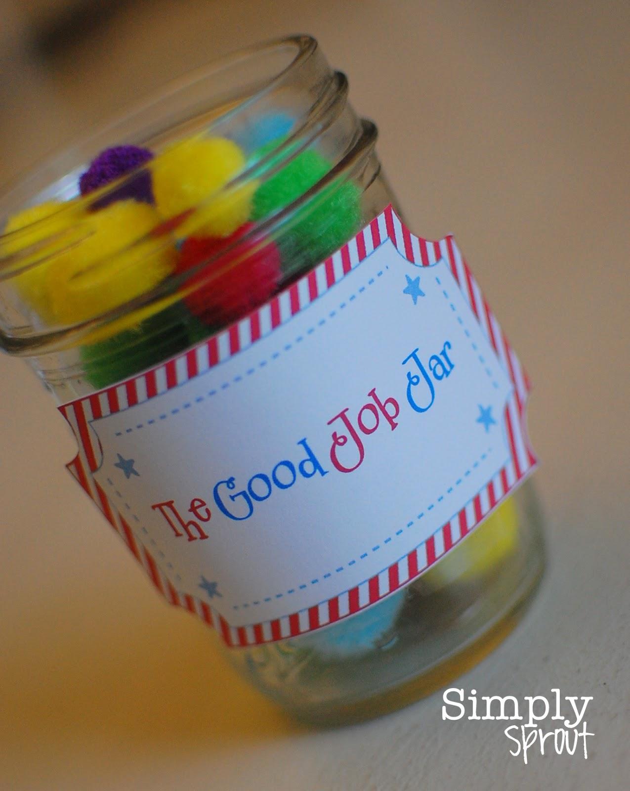 Good Job Jars Printable Tag Simply Sprout