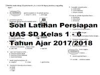 Soal Latihan Persiapan UAS SD/MI Semester Ganjl 2017/2018