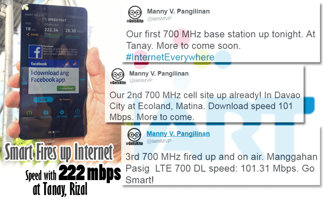 Smart Fires up Internet Speed with 222 mbps at Tanay, Rizal