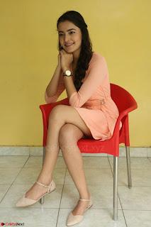 Rukshar Mir in a Peachy Deep Neck Short Dress 073.JPG