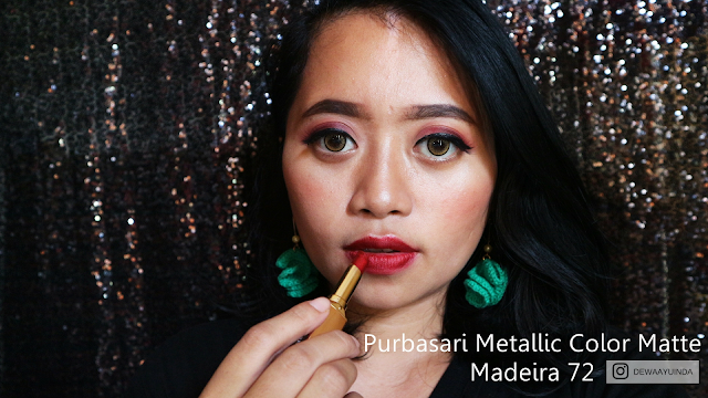 PURBASARI METALLIC COLOR MATTE : REVIEW & SWATCH