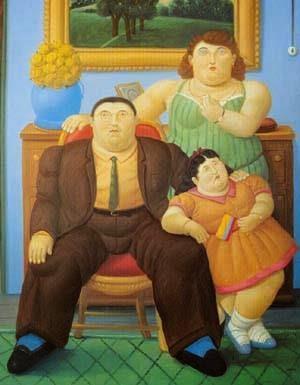 Família Colombiana - Fernando Botero e suas pinturas ~ O pintor das figuras volumosas