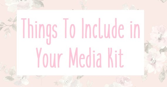 ALISHA VALERIE: Things To Include in Your Media Kit
