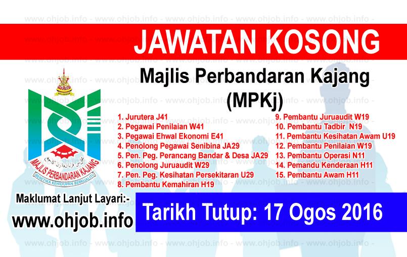 Jawatan Kerja Kosong Majlis Perbandaran Kajang (MPKj) logo www.ohjob.info ogos 2016