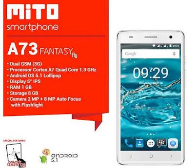 Spesifikasi Mito A73 Fantasy Fly
