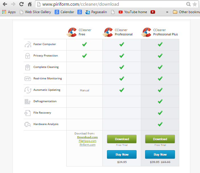 test ccleaner professional