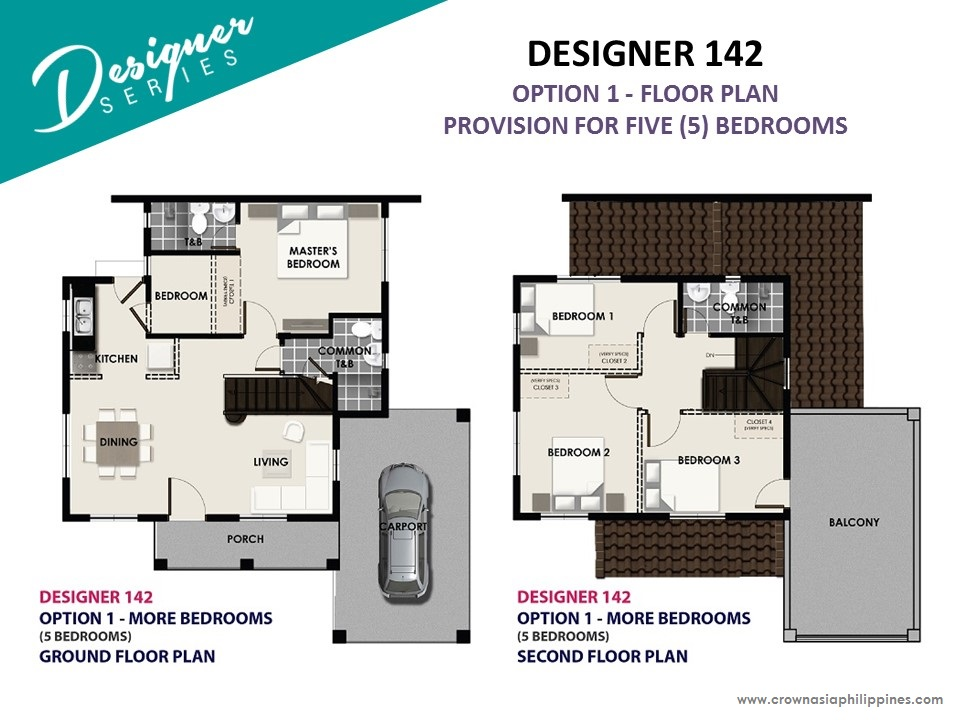 Option 1 - Floor Plan of Levanzo at The Island Park - Designer 142 | House and Lot for Sale Dasmarinas Cavite