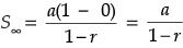 cara menentukan nilai suku pertama dan rasio pada deret geometri tak hingga