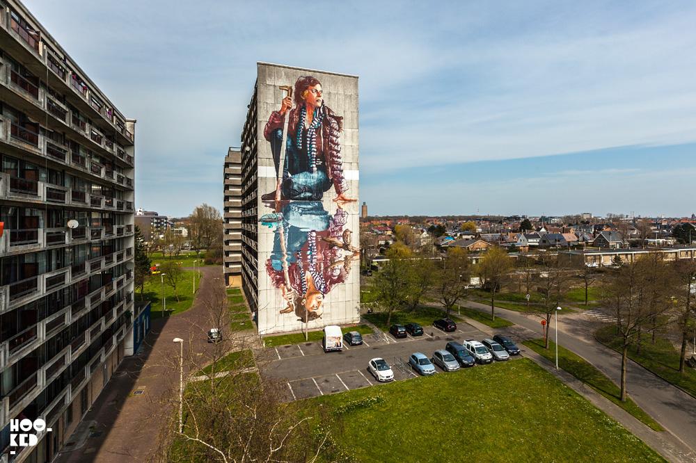 Street Artist Fintan Magee's Mural in Ostend, Belgium. Photo ©Hookedblog