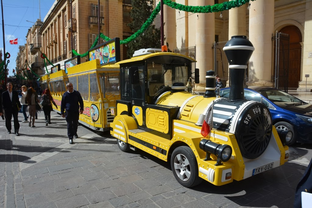 Republic Street Valletta tourist train