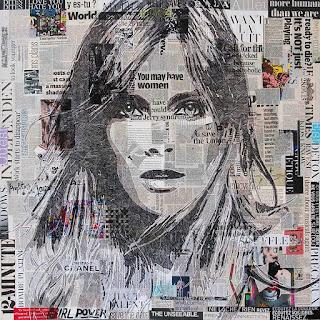 cuadros-de-retratos-femeninos-lineas-entrelazadas