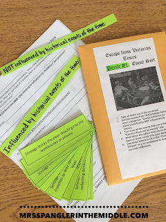 "Escape Out of the Room for the Middle School ELA Classroom using ""A Christmas Carol"".  Paper-based puzzles with high engagement!  #teaching  #escape"
