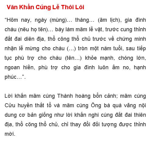 Van Khan Cung Le Thoi Loi