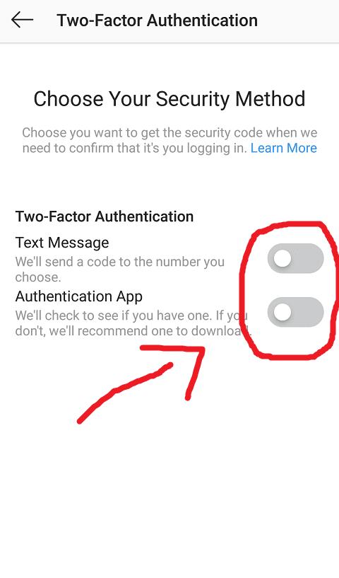 Pilih Metode Pengamanan Kedua