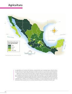 Apoyo Primaria Atlas de México 4to Grado Bloque IV Lección 1 Agricultura