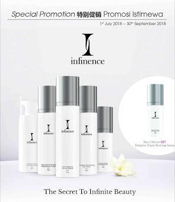 Infinence skin care, serum terbaik, infinence sepang, infinemce tawau