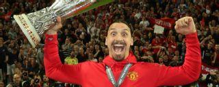 Zlatan Ibrahimovic Manchester United Europa League Celebrates