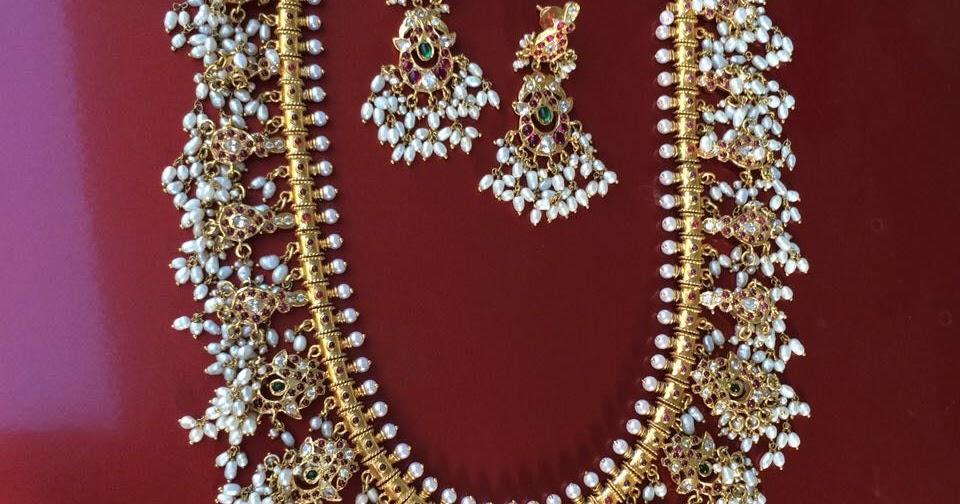Silver Guttapusalu Long Haram Earrings Jewellery Designs