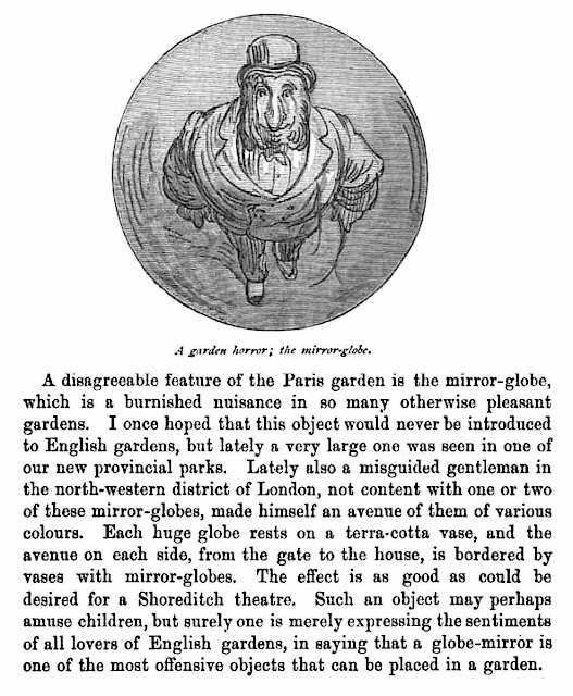 A newspaper opinion piece about mirror-globes from 1883