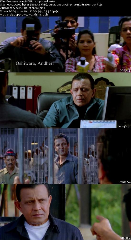 Enemmy 2013 HDRip 720p Hindi 800mb